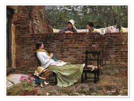 Poster Premium  Chiacchiere - John William Waterhouse