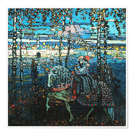 Poster Premium  Couple on a horse - Wassily Kandinsky