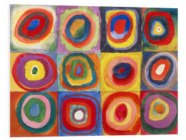Forex  Colour Study - Squares and concentric rings - Wassily Kandinsky