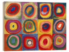 Legno  Colour Study - Squares and concentric rings - Wassily Kandinsky