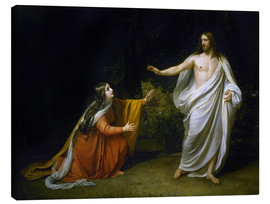 Stampa su tela  Christ's Appearance to Mary Magdalene after the Resurrection - Aleksandr Andreevich Ivanov