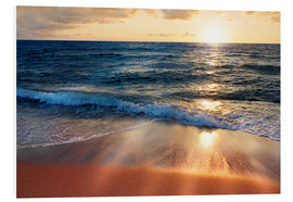 Forex  Waves at Sunset - Lichtspielart