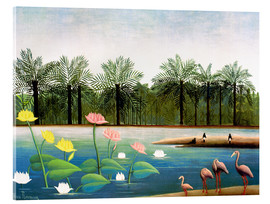 Vetro acrilico  The Flamingos - Henri Rousseau