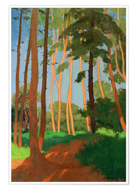 Poster Premium  The Forest Clearing - Felix Edouard Vallotton