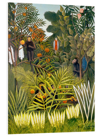 Forex  Exotic Landscape with monkeys and a parrot - Henri Rousseau