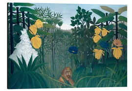 Alluminio Dibond  The meal of the lion - Henri Rousseau