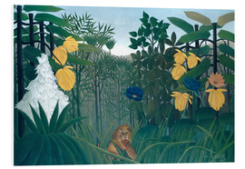 Stampa su schiuma dura  The meal of the lion - Henri Rousseau