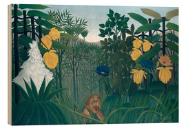 Legno  The meal of the lion - Henri Rousseau