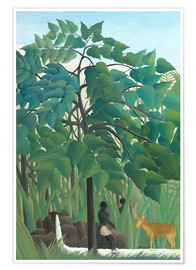 Poster Premium  The waterfall (detail) - Henri Rousseau