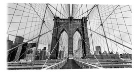 Vetro acrilico  NYC: Brooklyn Bridge (monochrome) - Sascha Kilmer