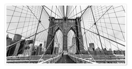 Poster Premium NYC: Brooklyn Bridge (monochrome)