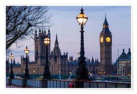 Poster Houses of Parliament and Big Ben