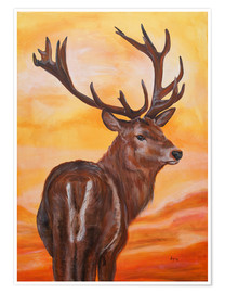 Poster Premium sundown, deer