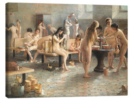 Stampa su tela  In the bath house - Vladimir Alexandrovich Plotnikov