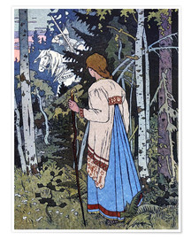 Poster Premium  Vassilisa the Beautiful - Ivan Jakovlevich Bilibin