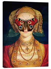 Stampa su tela  The butterfly mask (by Hans Holbein)