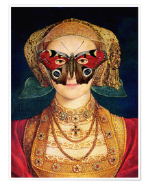 Poster Premium  The butterfly mask (by Hans Holbein)