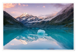 Poster Premium  Glacial lake at Mt Cook, New Zealand - Matteo Colombo