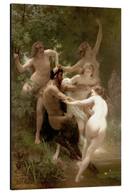 Alluminio Dibond  Nymphs and satyr - William Adolphe Bouguereau