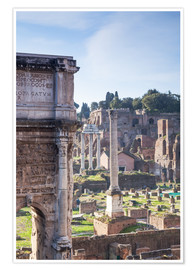 Poster Premium  Ruins of the ancient roman forum - Matteo Colombo