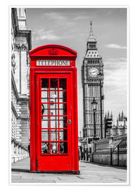 Poster Premium  London phone booth - euregiophoto