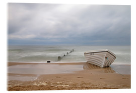 Vetro acrilico  fishing boat on the Baltic beach - Simone Splinter