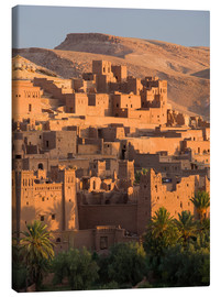 Stampa su tela  Kasbah Ait Benhaddou vicino a Ouarza - Lee Frost