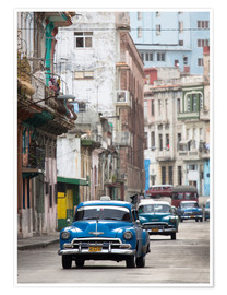 Poster  Taxi in Avenue Colon, Cuba - Lee Frost
