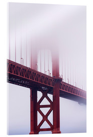 Vetro acrilico  Golden Gate Bridge in fog, San Francisco - Jean Brooks