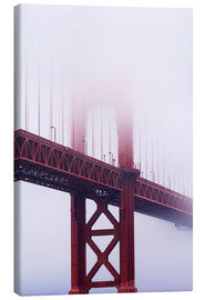 Stampa su tela  Golden Gate Bridge nella nebbia - Jean Brooks