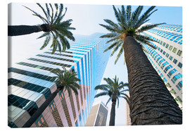 Stampa su tela  Downtown, Los Angeles, California, United States of America, North America - Gavin Hellier