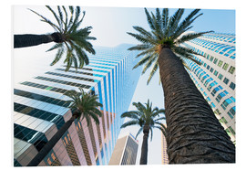 Stampa su schiuma dura  Downtown, Los Angeles, California, United States of America, North America - Gavin Hellier