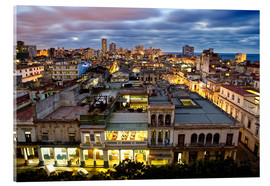 Stampa su vetro acrilico  View over Havana - Lee Frost