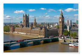 Poster Premium  Westminster Bridge with Houses of Parliament - Walter Rawlings