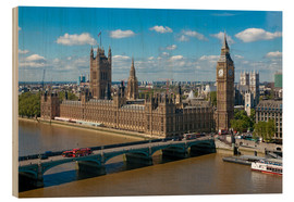 Stampa su legno  Westminster Bridge with Houses of Parliament - Walter Rawlings