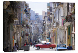 Stampa su tela  In the streets of Havana - Lee Frost