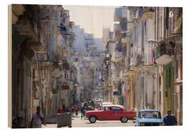 Stampa su legno  In the streets of Havana - Lee Frost