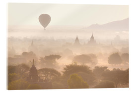 Vetro acrilico  Balloon above the Bagan temples - Lee Frost