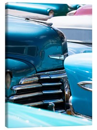 Lee Frost - Vintage American cars parked on a street in Havana Centro, Havana, Cuba, West Indies, Central Americ