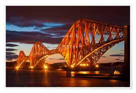 Poster  Forth Rail Bridge, South Queensferry - Neale Clarke