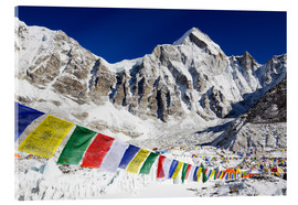Stampa su vetro acrilico  Prayer flags at the case camp of Mount Everest - Christian Kober