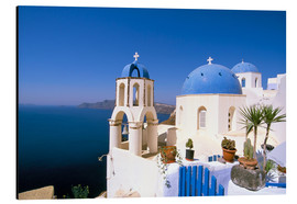 Stampa su alluminio  Oia (Ia), island of Santorini (Thira), Cyclades Islands, Aegean, Greek Islands, Greece, Europe - Sergio Pitamitz