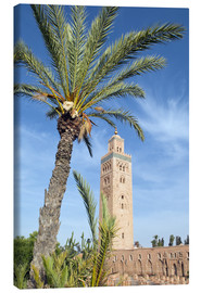 Stampa su tela  Minaret of the Koutoubia Mosque, UNESCO World Heritage Site, Marrakech, Morocco, North Africa, Afric - Nico Tondini