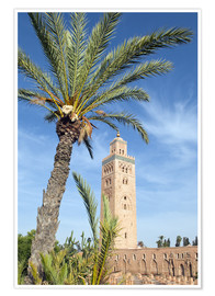 Poster Premium Minaret of the Koutoubia Mosque, UNESCO World Heritage Site, Marrakech, Morocco, North Africa, Afric