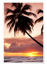 Poster  Tropical sunset, Bridgetown, Barbados, West Indies, Caribbean, Central America - Angelo Cavalli