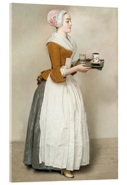 Stampa su vetro acrilico  The Chocolate Girl - Jean Etienne Liotard