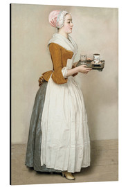 Alluminio Dibond  The Chocolate Girl - Jean Etienne Liotard