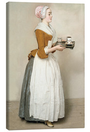 Stampa su tela  The Chocolate Girl - Jean Etienne Liotard