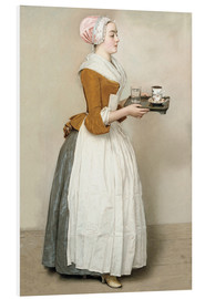 Stampa su schiuma dura  The Chocolate Girl - Jean Etienne Liotard