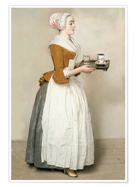 Poster Premium  The Chocolate Girl - Jean Etienne Liotard